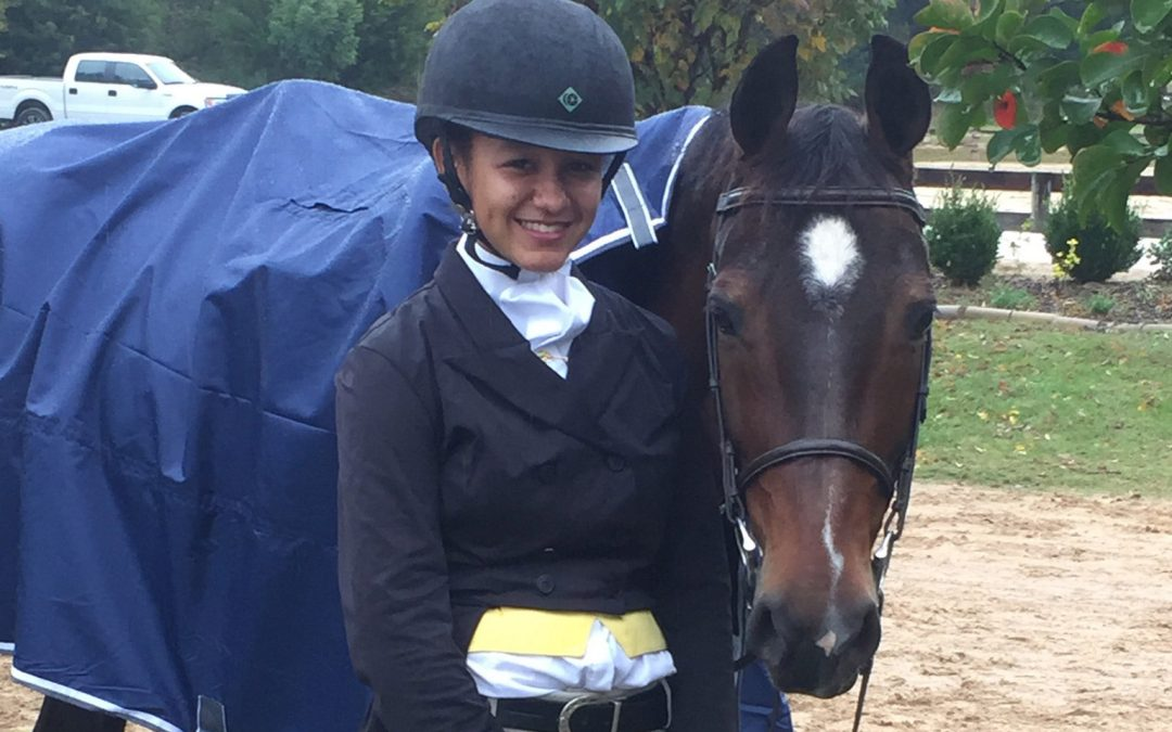 Emma and Pop Star waiting for Hunter Derby