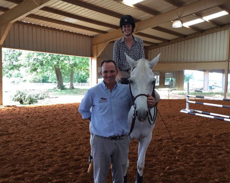Nicole Tidwell with Olympic rider Greg Best